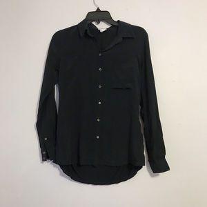 Club Monaco Black Silk Shirt